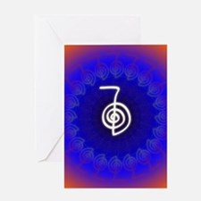 Cho-Ku-Rei-Reiki-Color-field Greeting Card
