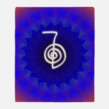 Cho-Ku-Rei-Reiki-Color-field Throw Blanket