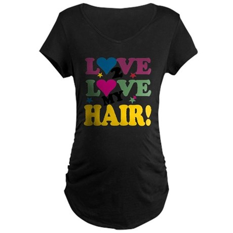 LOVE TO LOVE BLACK Maternity Dark T-Shirt