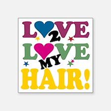 """LOVE TO LOVE BLACK Square Sticker 3"""" x 3"""""""