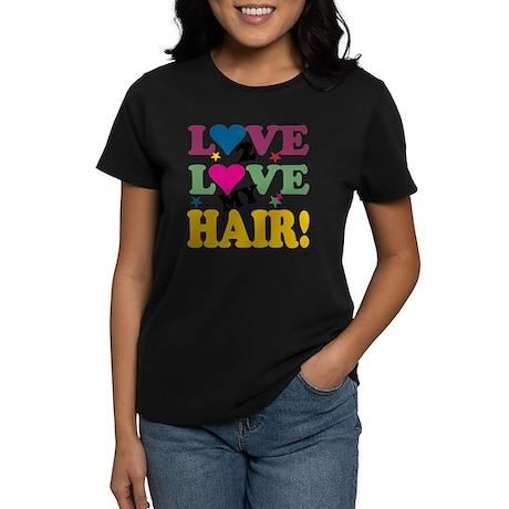 LOVE TO LOVE BLACK Women's Dark T-Shirt