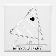 sunfish_baltimore Tile Coaster
