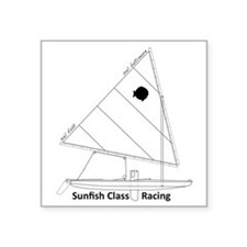 "sunfish_baltimore Square Sticker 3"" x 3"""