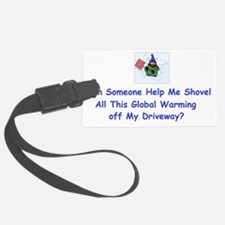 1global warming shovelling_color Luggage Tag