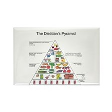 Dietitian's Pyramid Rectangle Magnet (100 pack)