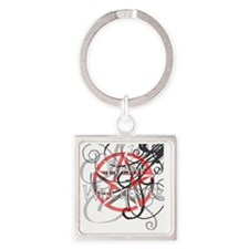 Team Winchester_pent for BLK Square Keychain