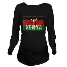 Heart Kenya Long Sleeve Maternity T-Shirt