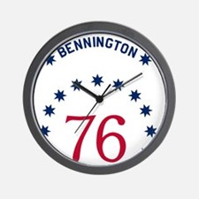 Bennington 76 - White Name Wall Clock