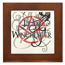 Team Winchester_pent Framed Tile