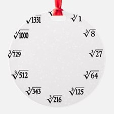cube root clock Ornament