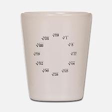 cube root clock Shot Glass