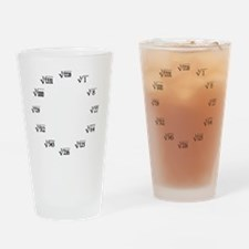 cube root clock Drinking Glass