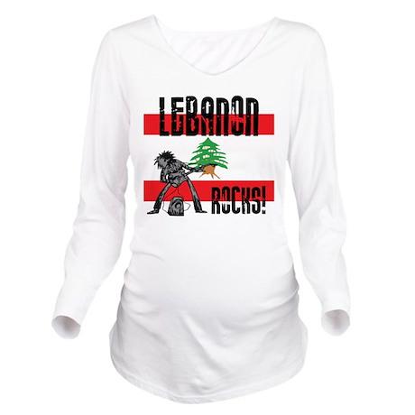 Lebanon Rocks Long Sleeve Maternity T-Shirt