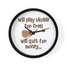 funny ukulele uke designs Wall Clock