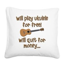 funny ukulele uke designs Square Canvas Pillow