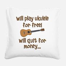 funny ukulele uke designs Square Canvas Pillow