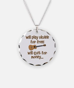 funny ukulele uke designs Necklace Circle Charm