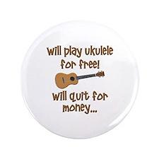 """funny ukulele uke designs 3.5"""" Button"""