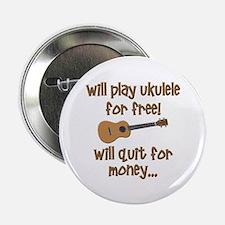 """funny ukulele uke designs 2.25"""" Button"""