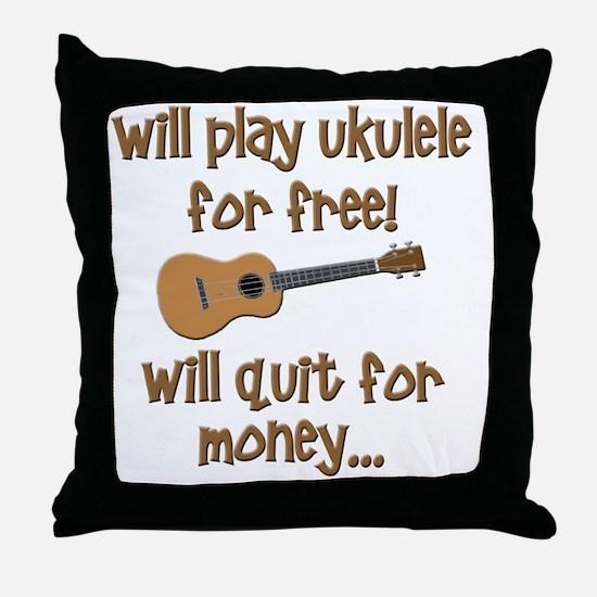funny ukulele uke designs Throw Pillow