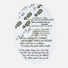 feet and poem Oval Ornament