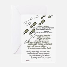 feet and poem Greeting Card