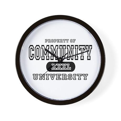 Community University Wall Clock