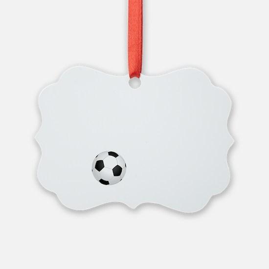 Soccer Goals White Ornament