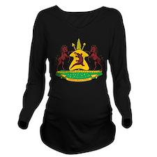 Lesotho Coat Of Arms Long Sleeve Maternity T-Shirt