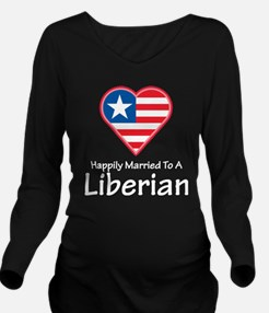 Happily Married Liberian Long Sleeve Maternity T-S