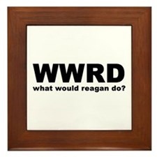What Would Reagan Do Framed Tile