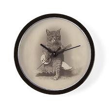 Cat_button Wall Clock
