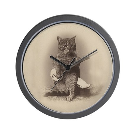 Cat_button Wall Clock by Admin_CP1022708