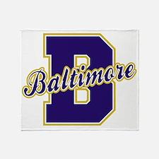 Baltimore Letter Throw Blanket