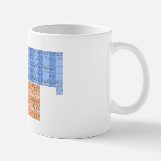 Color Japanese Kana Chart Mug