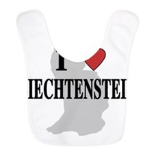 I Love Liechtenstein Bib