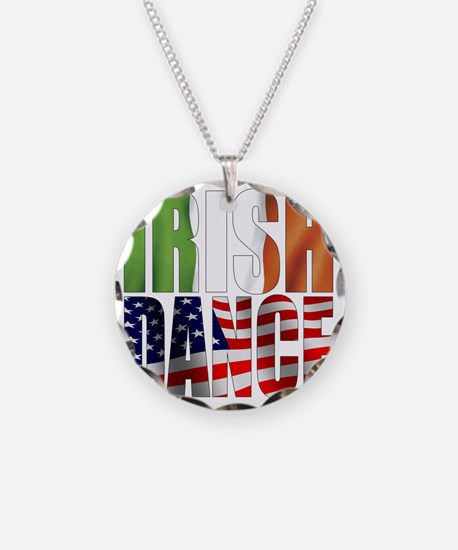 Dance Flags Necklace Circle Charm