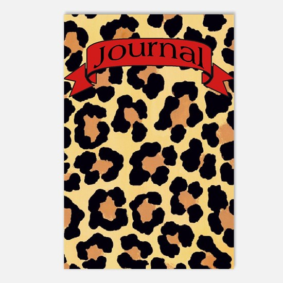 leopard journal Postcards (Package of 8)