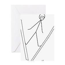 skijump Greeting Card