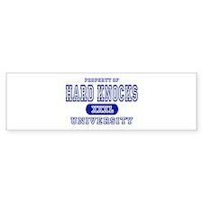 Hard Knocks University Bumper Bumper Sticker
