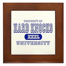 Hard Knocks University Framed Tile