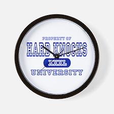 Hard Knocks University Wall Clock