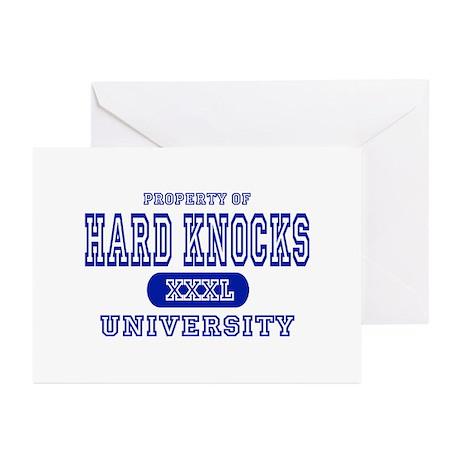 Hard Knocks University Greeting Cards (Package of