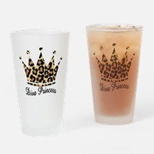 leopard diva princess Drinking Glass