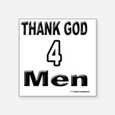 "2-500THANK-GOD-4-GIRLS Square Sticker 3"" x 3"""