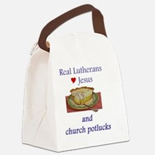 Jesus and Church Potlucks Canvas Lunch Bag