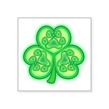"Shamrock Square Sticker 3"" x 3"""