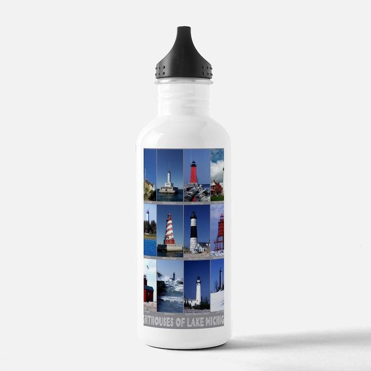 Lake Mich 16x20 Water Bottle