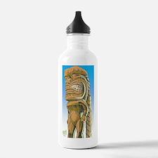 tiki-man-Lg-color-01-b Water Bottle