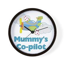 mummys copilot Wall Clock